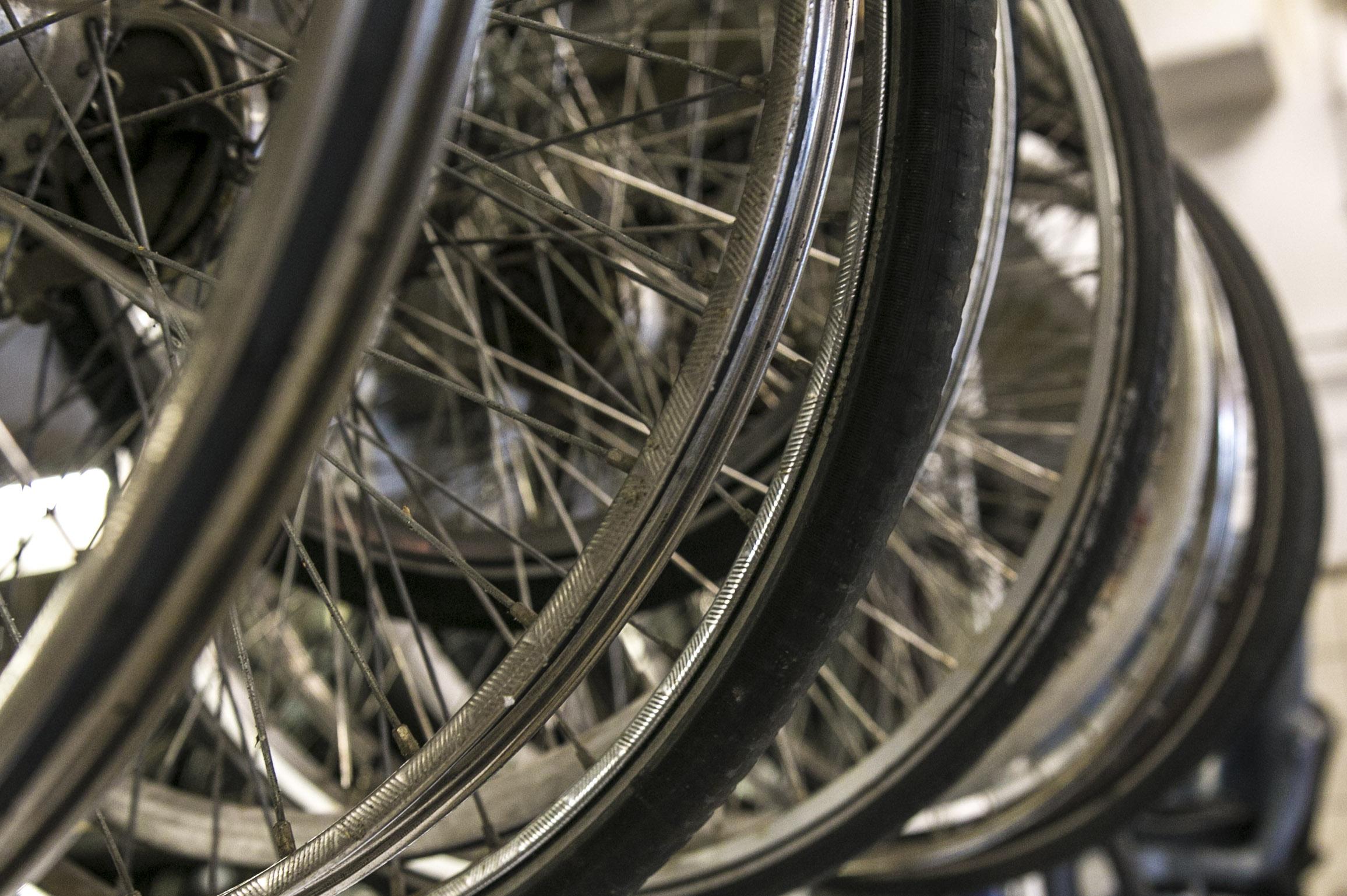 fiets kuisen met hoge drukreiniger